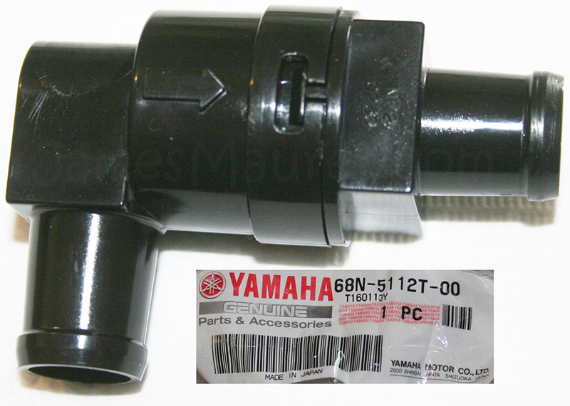 Check valve for a Yamaha Waverunner OEM JOINT HOSE 68N-5112T-00-00
